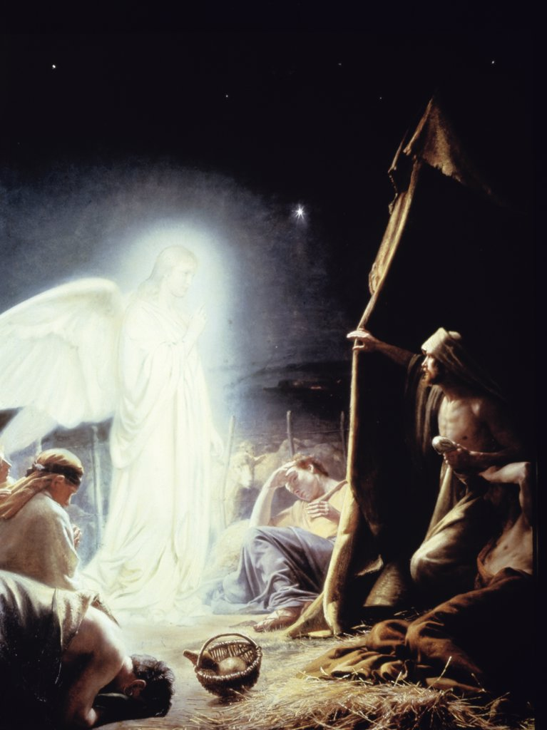 Stock Photo: 900-7458 Angel and the Shepherds