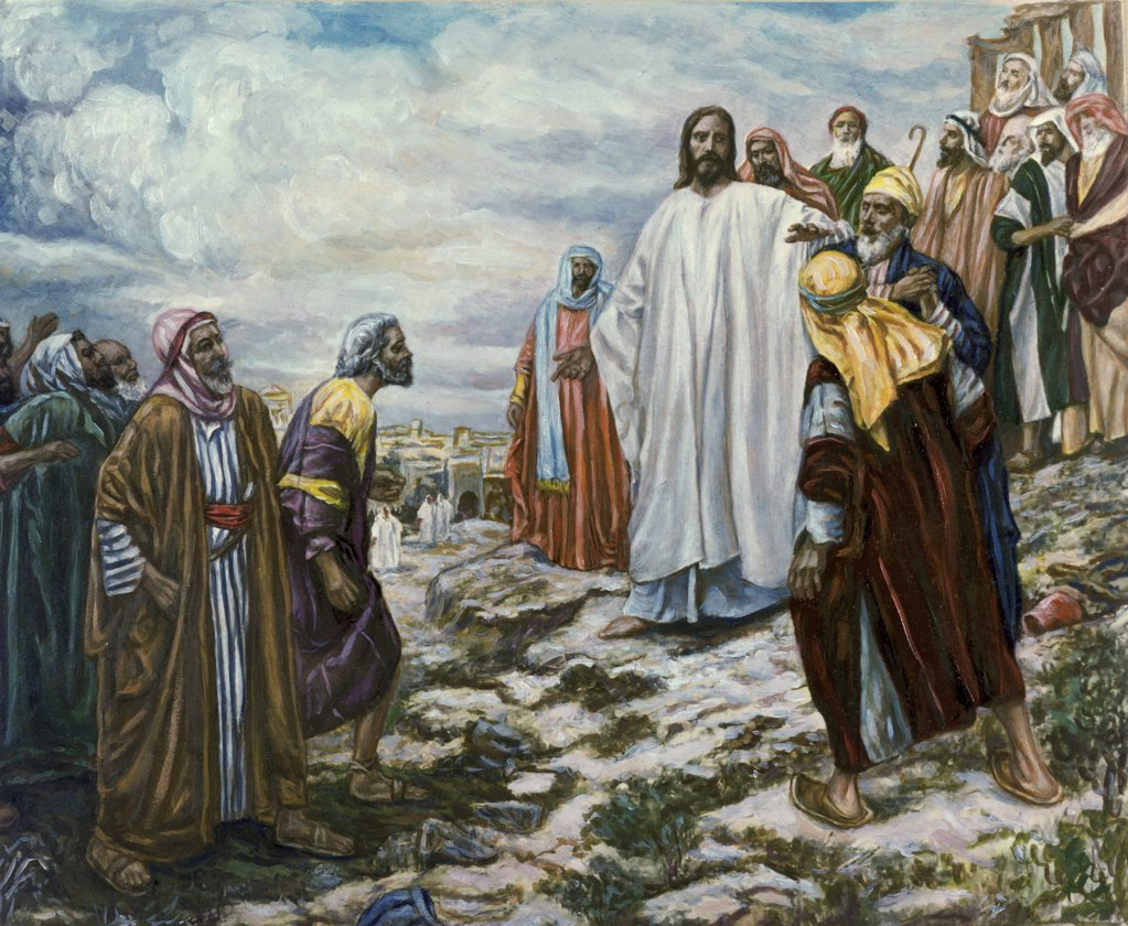 Stock Photo: 900-7464 Christ on the Mountain