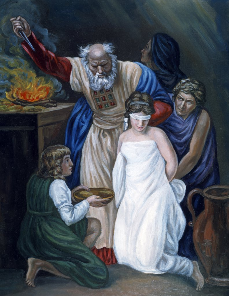 Sacrifice of Jephthah's Daughter by John Opie, (1761-1807) : Stock Photo
