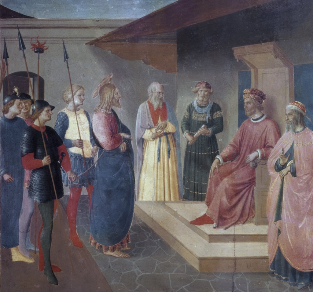 Stock Photo: 900-7589 Christ Before Caiaphas