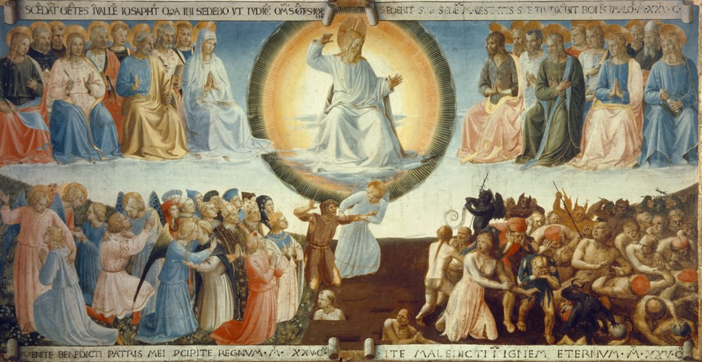 Last Judgment by Fra Angelico, (ca.1395-1455), Italy, Florence, Museo di San Marco, 1430 : Stock Photo