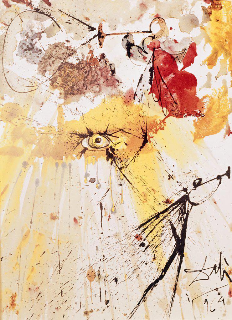 Vision of Daniel by Salvador Dali, 1904-1989 : Stock Photo
