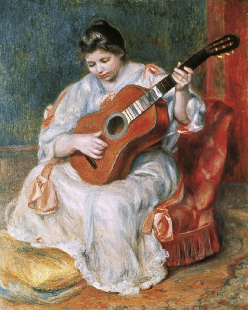 Stock Photo: 900-8040 The Guitar Player
