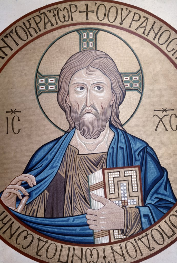 Christ Pantocrator,  mosaic,  12th century : Stock Photo