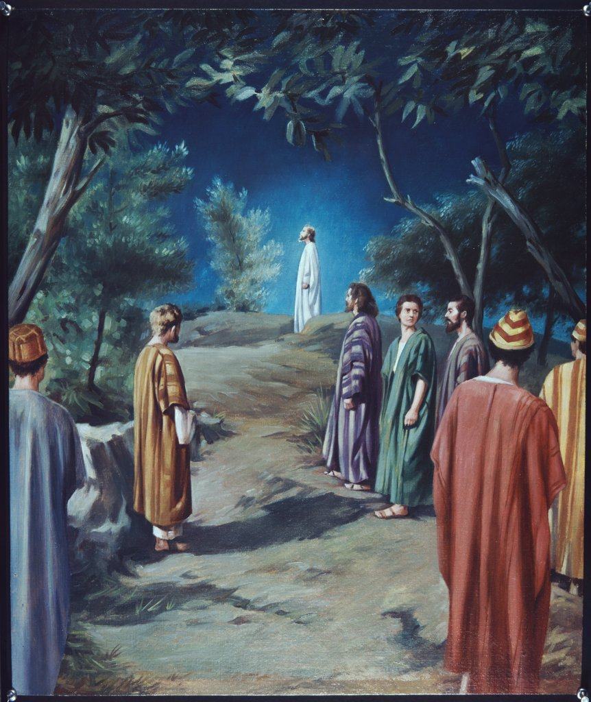 Stock Photo: 900-8305 Christ in Gethsemane with Apostles