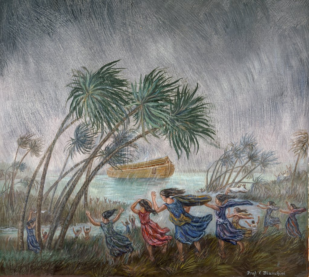 Stock Photo: 900-8389 Rains Came - Beginning of Flood by Vittorio Bianchini, (1797-1880)
