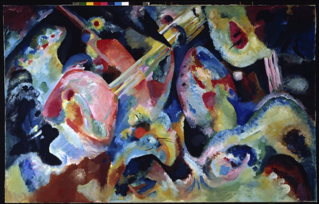 Improvisation: The Deluge by Vasily Kandinsky, oil on canvas, 1866-1944, Germany, Munich, Stadtische Galerie im Lenbachhaus : Stock Photo