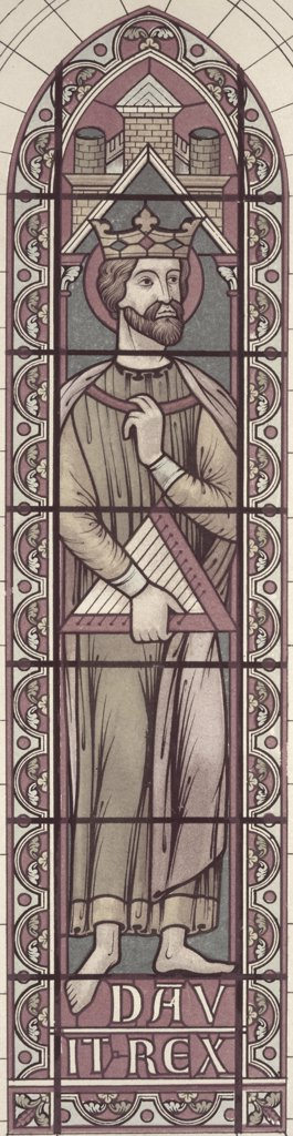 King David 13th C. Stained Glass : Stock Photo