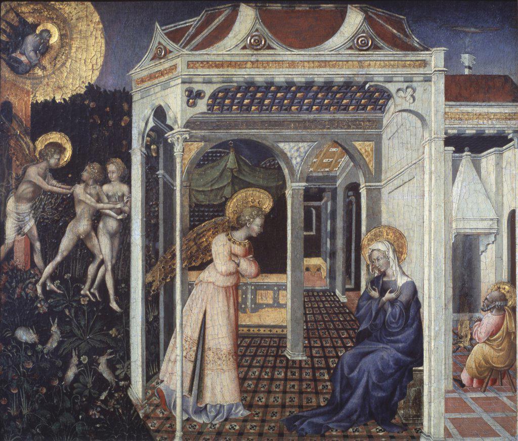 Stock Photo: 900-866 The Annunciation Giovanni di Paolo di Grazia (d.1482 Italian) National Gallery of Art, Washington D.C