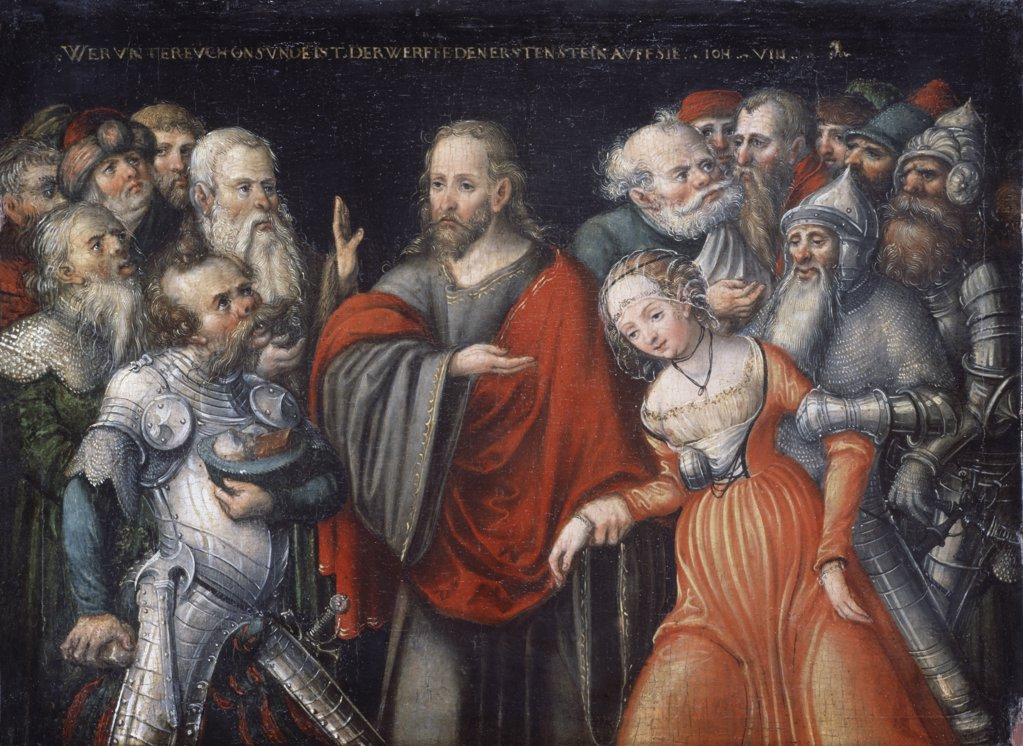 Stock Photo: 900-871 Christ  and the Adulteress 