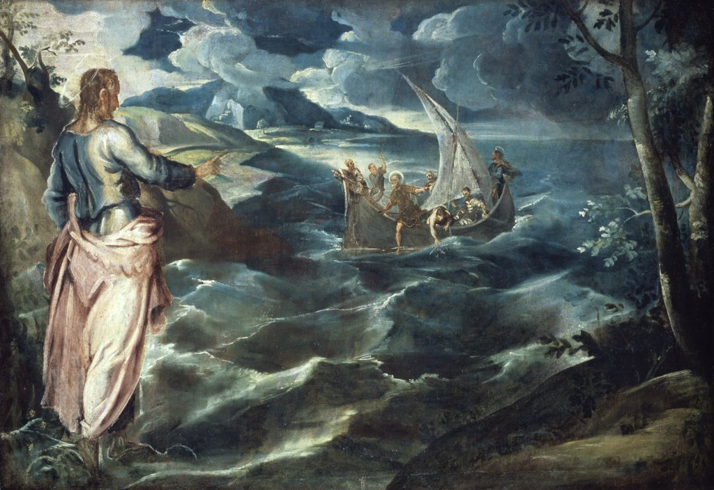Stock Photo: 900-878 Christ at the Sea of Galilee 