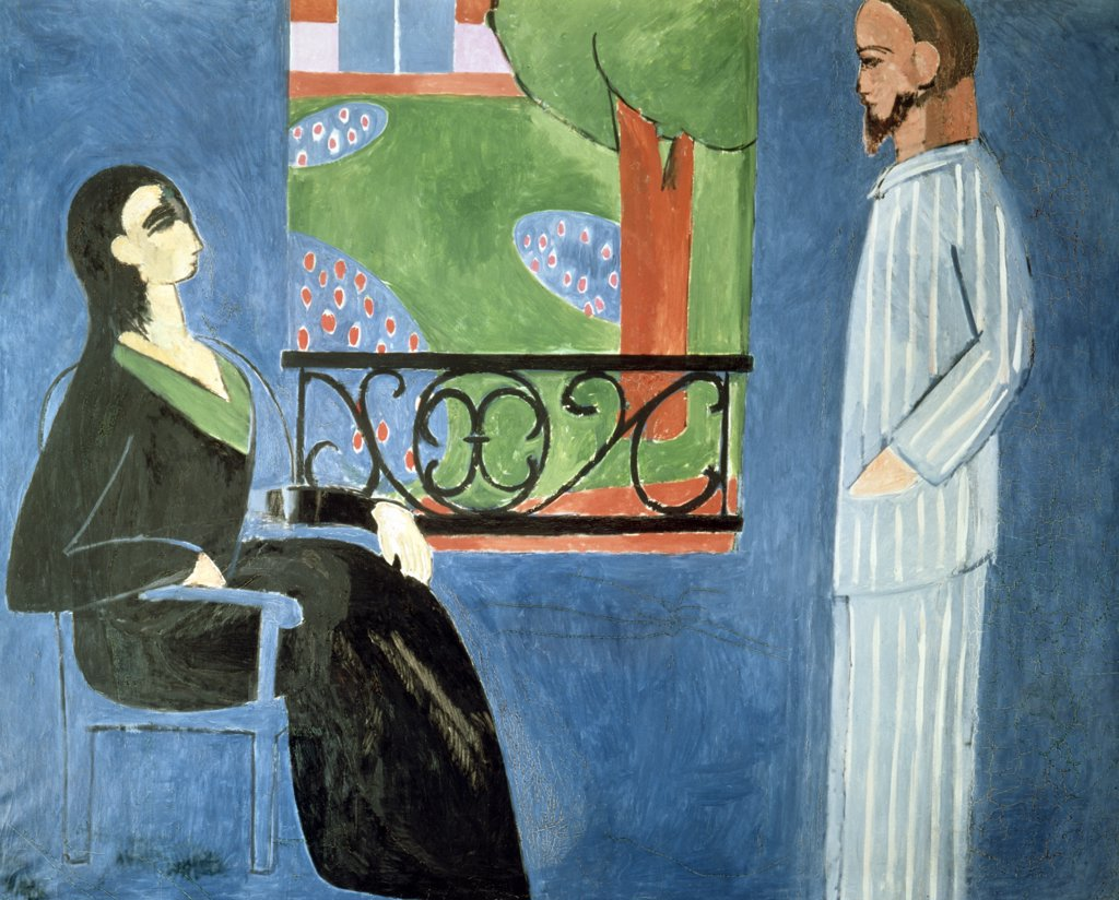 Stock Photo: 900-887 Russia, St. Petersburg, Hermitage Museum, Conversation by Henri Matisse, oil on canvass, 1909, (1869-1954),