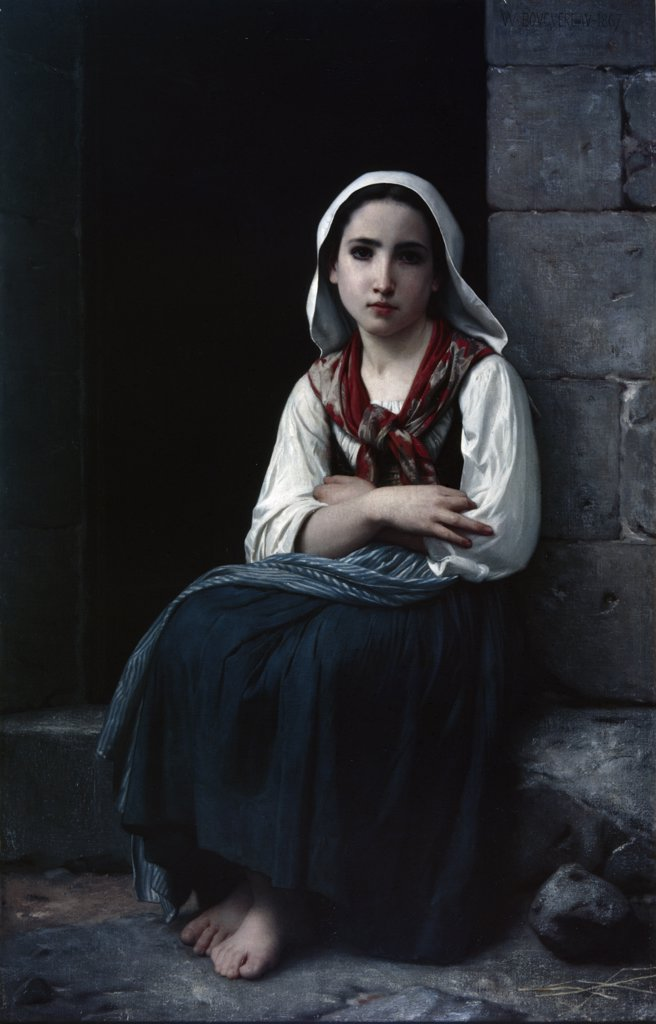 Stock Photo: 900-8893 Yvonette by William-Adolphe Bouguereau, oil on canvas, (1825-1905), 1867