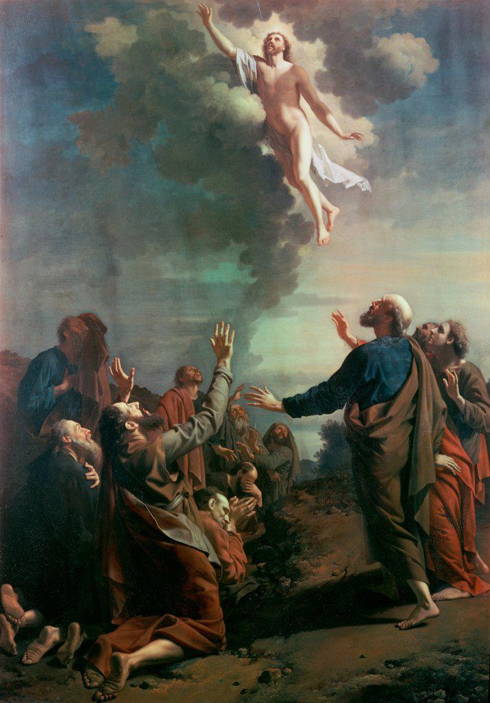 Stock Photo: 900-8951 The Ascension  Adriaen van der Werff (1659-1722 Dutch)