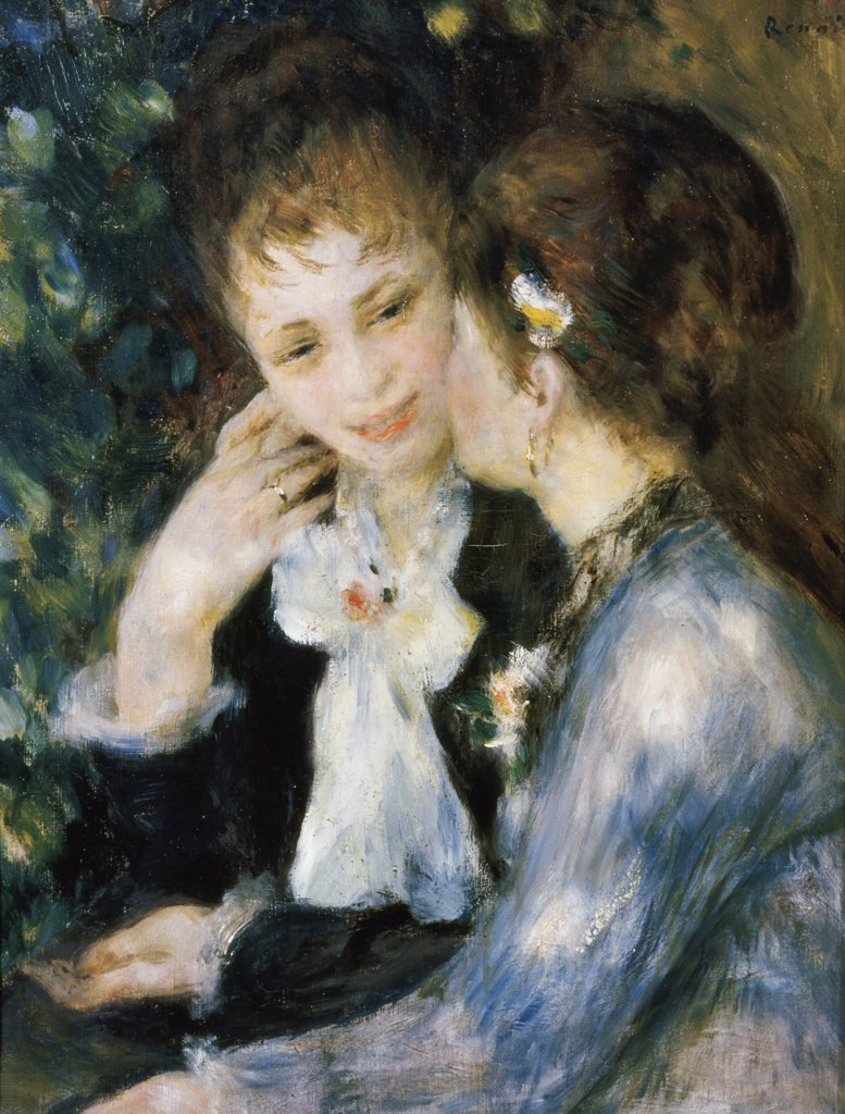 Stock Photo: 900-941 Title Unknown  (Two Girls Talking) 