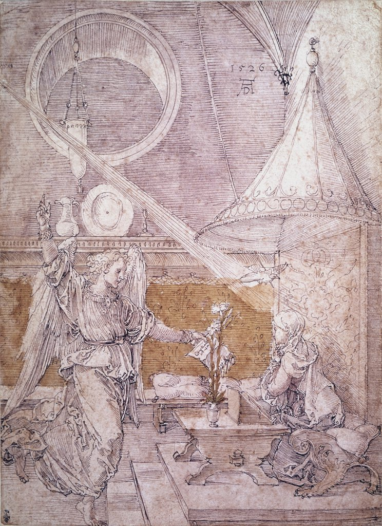 Stock Photo: 900-943 Annunciation Albrecht Durer (1471-1528 German)