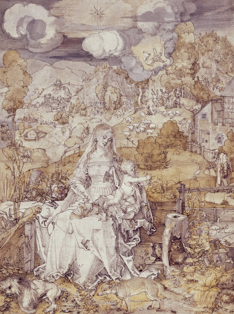 Stock Photo: 900-9441 The Virgin with Animals