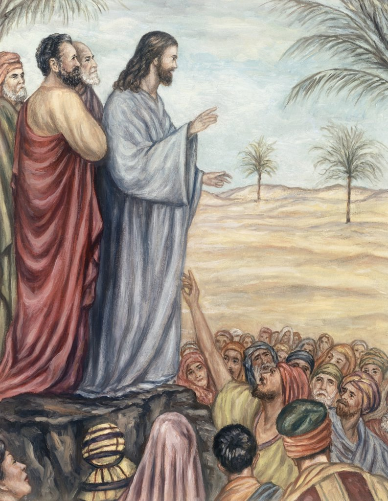 Sermon on the Mount Giovanni Francesco B. Guercino (1591-1666 Italian) : Stock Photo