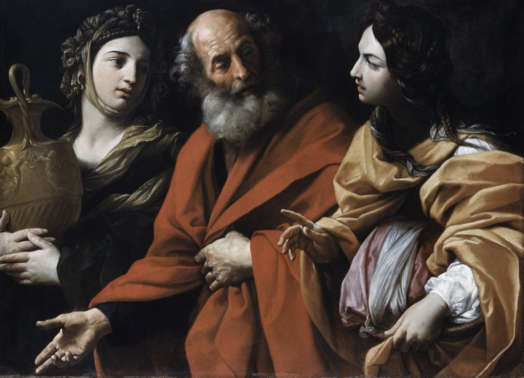 Stock Photo: 900-9661 Lot And His Daughters Guido Reni (1575-1642 Italian)
