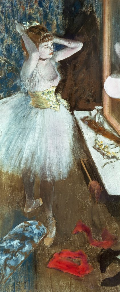 Stock Photo: 900-9714 Dancer in her Dressing Room 
