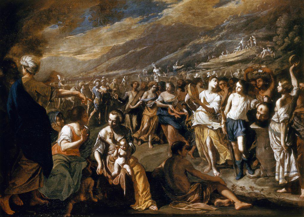 Israelites Celebrating, The, Cavallino, Bernardo (1616-1656/Italian) : Stock Photo