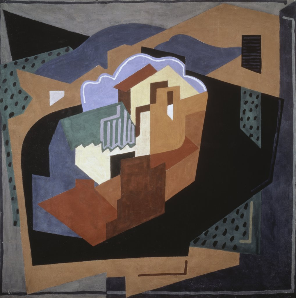 Stock Photo: 900-995 Serrieres by Albert Gleizes, oil on canvas, 1923, 1881-1953, Private Collection
