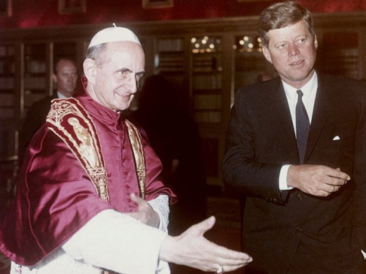 Stock Photo: 903-103953 John F. Kennedy and Pope Paul VI