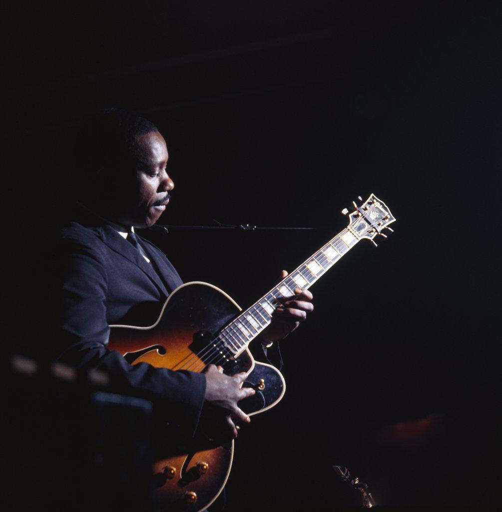 Wes Montgomery Jazz Guitarist : Stock Photo