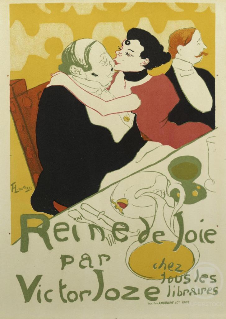 Queen of Joy by Victor Joze Henri de Toulouse-Lautrec (1864-1901/French)  : Stock Photo