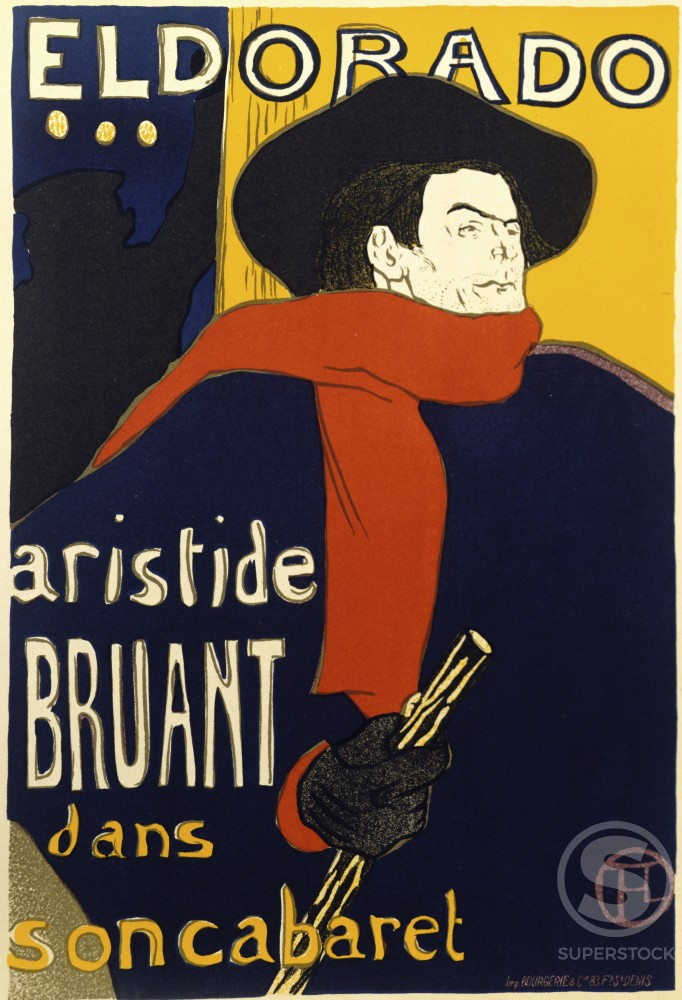 Stock Photo: 911-142465 Eldorado-Aristide Bruant dans son Cabaret 