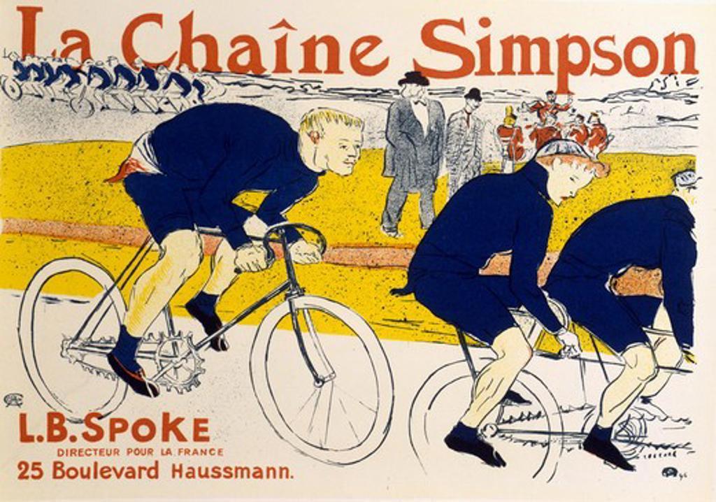 Stock Photo: 911-142466 La Chaine Simpson Henri de Toulouse-Lautrec  (1864-1901 French) Lithograph