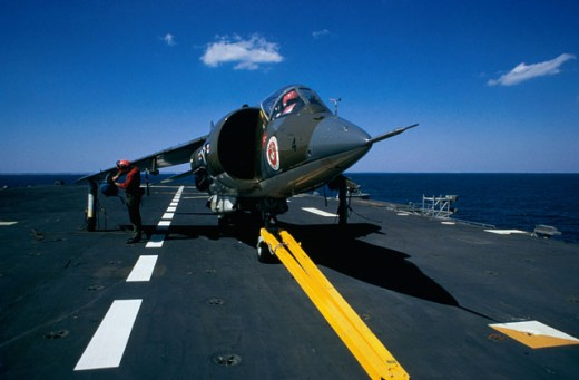 Stock Photo: 911-3909 U.S. Marine Corp Harrier
