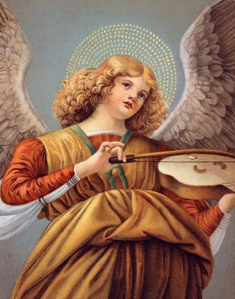 Musical Angel Nostalgia Cards : Stock Photo