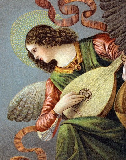 Stock Photo: 980-1022 Musical Angel Nostalgia Cards