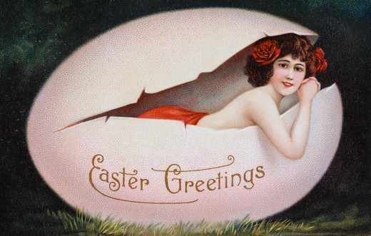 Stock Photo: 980-1031 Easter Greeting Nostalgia Cards