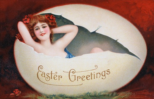 Stock Photo: 980-1032 Easter Greetings Nostalgia Cards
