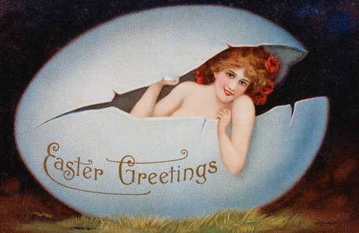 Stock Photo: 980-1033 Easter Greetings Nostalgia Cards