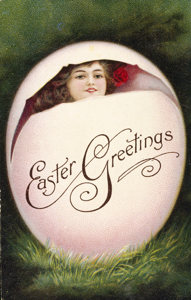Stock Photo: 980-1036 Easter Greetings, Nostalgia Cards, 1900