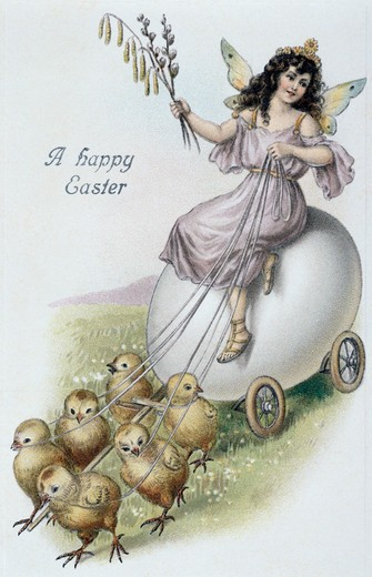 Stock Photo: 980-1038 A Happy Easter Nostalgia Cards