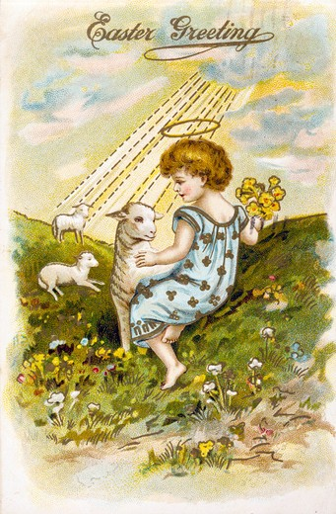 Stock Photo: 980-1041 Easter Greetings, Nostalgia Cards