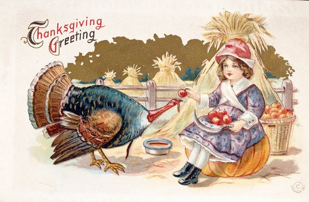 Stock Photo: 980-1043 Thanksgiving Greeting, Nostalgia Cards
