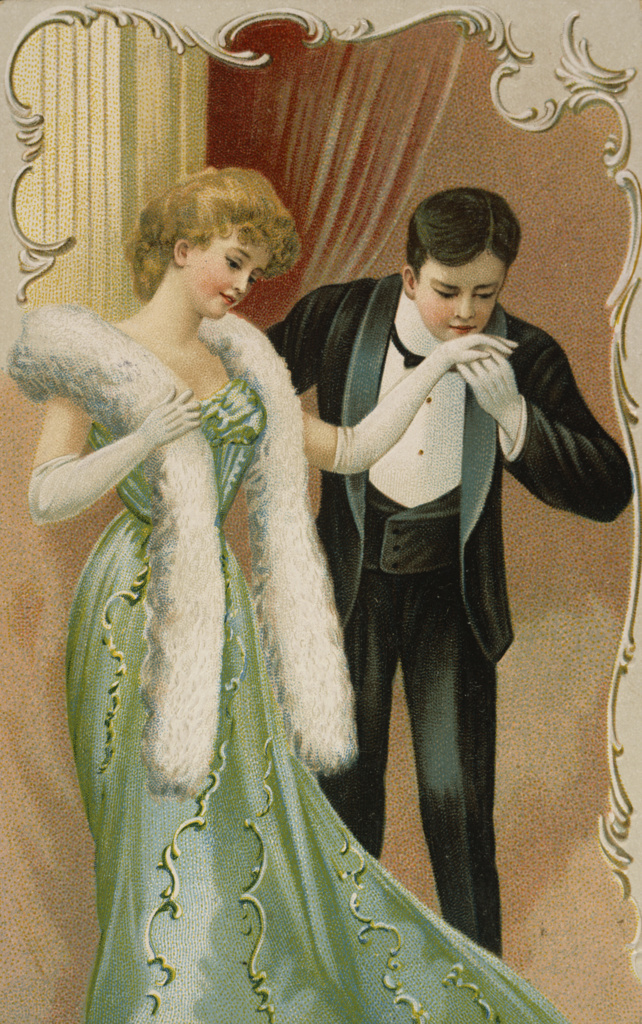 Stock Photo: 980-1085 Man Kissing Woman's Hand