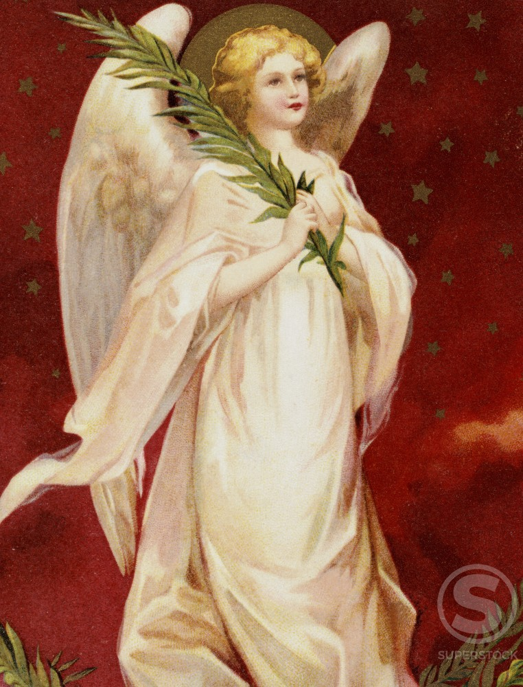 Stock Photo: 980-1121 A Bright And Happy Christmas: Angel