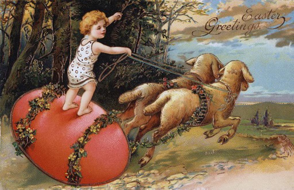 Stock Photo: 980-1136 Easter Nostalgia Cards