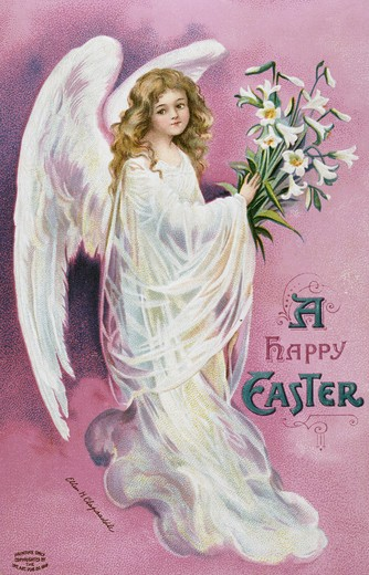 Stock Photo: 980-1137 A Happy Easter Angel Nostalgia Cards