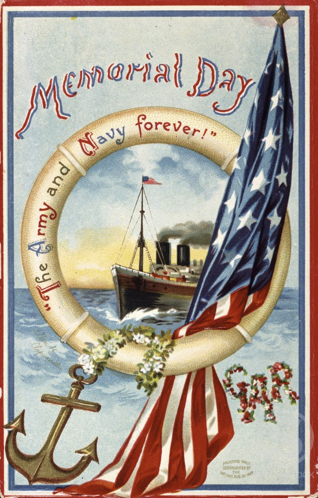 "Stock Photo: 980-1141 Memorial Day - "" The Army & Navy Forever""