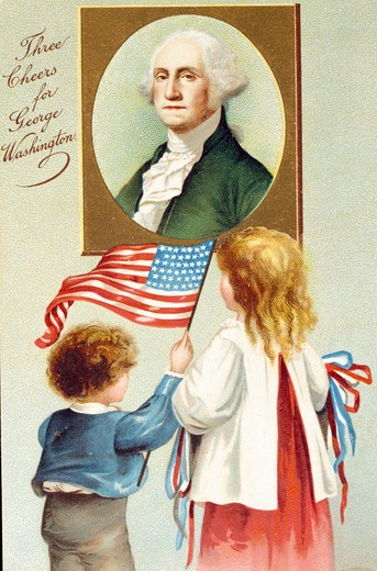 Stock Photo: 980-1149 George Washington's Birthday, Nostalgia Cards