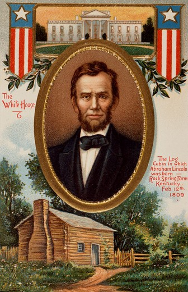 Abraham Lincoln's Birthday Nostalgia Cards : Stock Photo