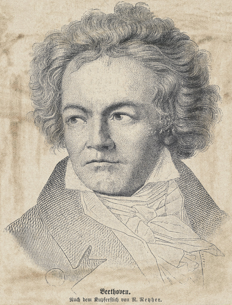 Stock Photo: 990-1011 Ludwig van Beethoven , German composer (1770-1827) , Artist Unknown
