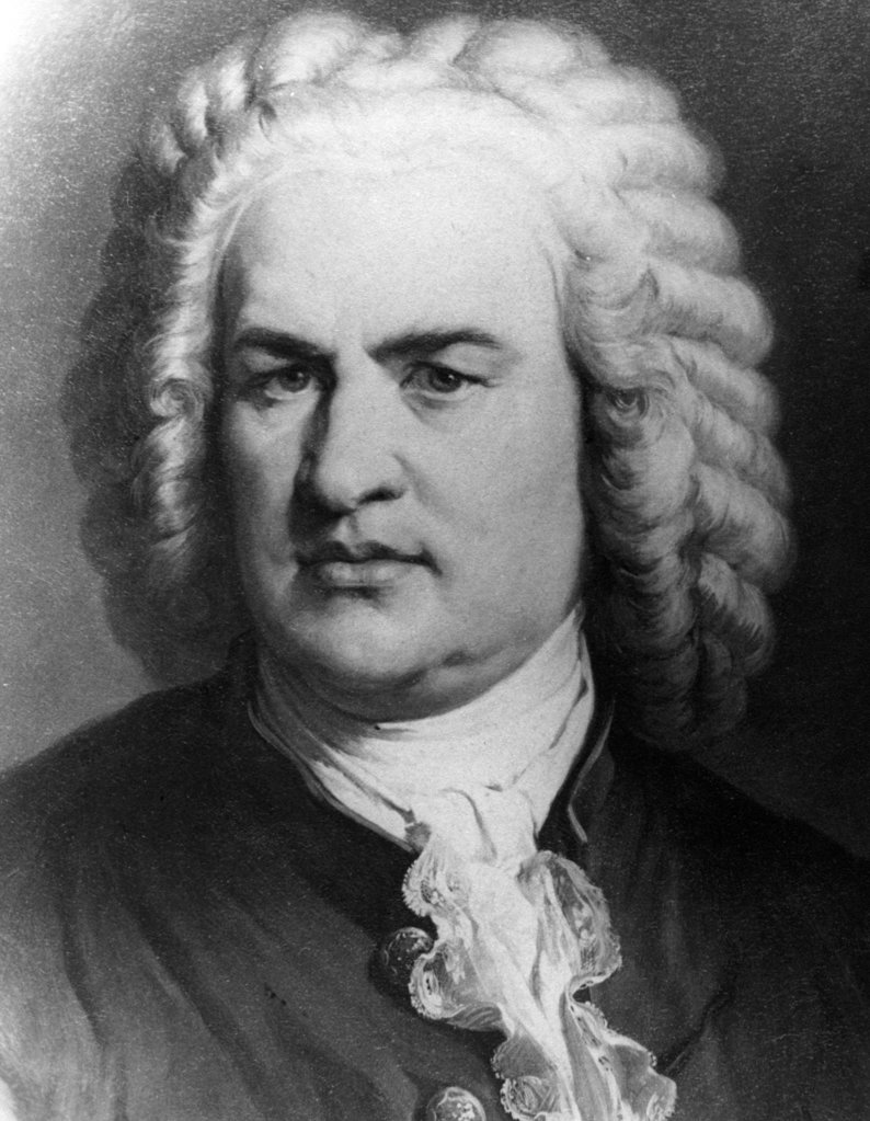 Stock Photo: 990-1013 Johann Sebastian Bach, print